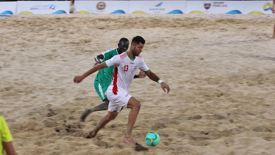 بازی های جهانی ورزش های ساحلی؛ برتری ایران برابر سنگال در ضربات پنالتی