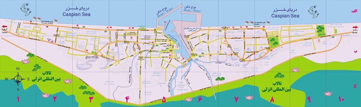 تاریخچه و نقشه جامع شهر بندر انزلی در ویکی خبرنگاران